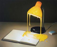 Eckart Hahn, Glühlampe, 2010, Acryl auf Leinwand, 50 x 60 cm