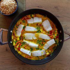 Enkel torsk i karri | Det glade kjøkken Thai Red Curry, Dinner, Ethnic Recipes, Food, Career, Dining, Food Dinners, Essen, Meals