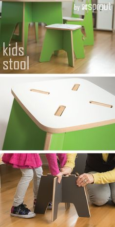 Assembly for Sprout's kids stool is so easy that your toddlers can help put together their own furniture. The small wooden stools are perfect for kids age 3-8, and make drawing, playing, and story time that much more fun. Learn more at Sprout.