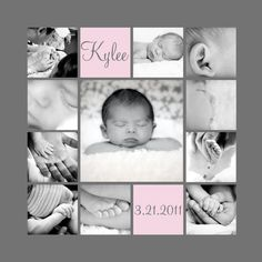 Fun idea for collages for baby/newborn photography. This would be ...