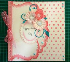 This was created from plain cream card just by using distress inks a mask and spellbinders dies.