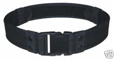 Black Tactical Utility Police Duty Belt Adjust To Size 30-46 Modular Molded Nylon by TheXbay. $8.88
