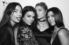 Lily Aldridge, Kendall Jenner, Gigi Hadid and Kourtney Kardashian