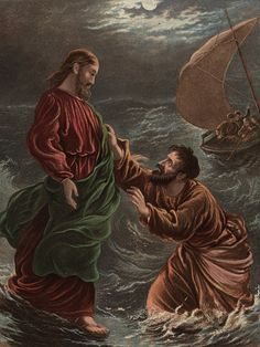 Meet Peter the Apostle, One of Jesus' Closest Friends: Jesus invites Peter to get out of his boat and walk on water.