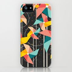 Colorful Pinwheels iPhone & iPod Case by Danny Ivan - $35.00