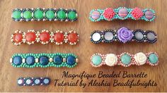 Magnifique Beaded Barrette Tutorial