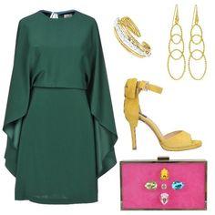 Adatto ad una donna inverno il color smeraldo del vestito sopra il  ginocchio illuminato maggiormente di e7fc49951b2