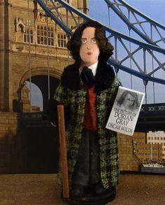 Oscar Wilde Doll Miniature Classic Literature by UneekDollDesigns