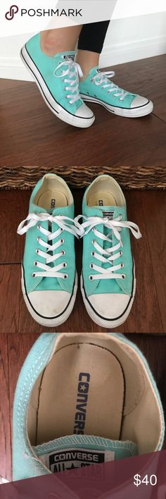 Converse Mint Shoe 9 Converse all star mint colored. Only worn once. I usually wear a size 8.5-9 but these are too big for me. No trades, no holds, please use the offer button for offers, and feel free to ask questions 🙂 Converse Shoes Sneakers