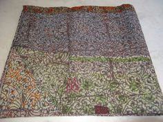 Queen Size Double Bed Vintage Throw Kantha Quilt N Ethnic Ralli Quilt Reversible #Handmade