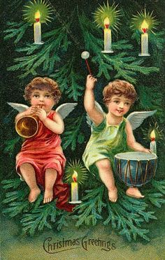 """Cherubs in the Christmas Tree"""