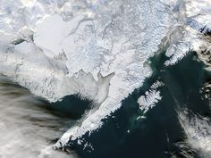 NASA image acquired January 15, 2012    Snow rested on the land surface while ice rested on the sea surface in southwestern Alaska in mid-January 2012.