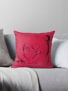 Designer Throw Pillows, Red Roses, Pillow Cases, Interior Decorating, Romantic, Prints, Things To Sell, Romance Movies, Decor