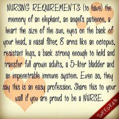 Nursing requirements
