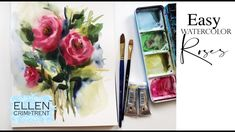 Watercolor Painting for Beginners Easy loose Roses / Wet on Wet Technique Watercolor Painting Techniques, Easy Watercolor, Painting Tips, Watercolor Flowers, Painting & Drawing, Watercolor Paintings, Floral Paintings, Painting Tutorials, Watercolors