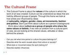 Visual arts The Frames - http://www.slideshare.net/smoky_stu/frames-11369167