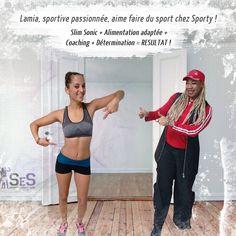 Lamia aime le sport et le sport lui retourne satisfaction..! De la volonté, du suivi, une alimentation adaptée, de la ceinture slim sonic et le tour est joué..!