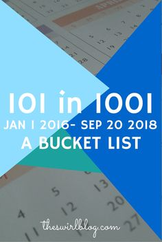 So, there you have it. A list of 101 things I would like to complete in 2.75 years. I'll be marking off and dating my tasks as they are completed. I hope you'll be back when I do a recap of my 1001 days on September 20, 2018! ** Bloggers: I'm challenging you to create your own #101in1001 post! If you end up writing your own, mention us on twitter or link it below! I will be reading and sharing! **
