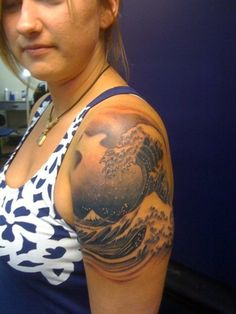 1000 images about great wave tattoo on pinterest wave for Cheap tattoos las vegas