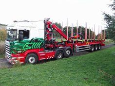 Stobarts Latest Log (Made in Dumfries) Eddie Stobart Trucks, Big Rig Trucks, Cool Trucks, Log Trailer, Trailers, Scania V8, Fan Picture, Volvo Trucks, Heavy Truck