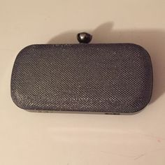 Gun Metal and Silver Evening Clutch Great condition! Bags Clutches & Wristlets