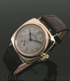 A 9ct gold cushion vintage Rolex Oyster watch, 1930s