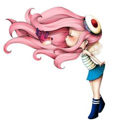 Kai Fine Art is an art website, shows painting and illustration works all over the world. Anime Quotes Tumblr, Chibi, Anime Pokemon, Illustration Mignonne, Art Mignon, Mermaid Tattoos, Poster Design, Cute Images, Children's Book Illustration
