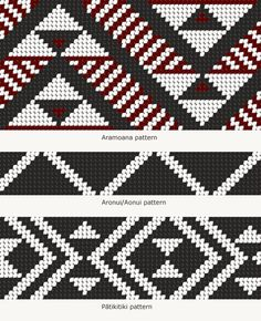 Tāniko designs – Māori weaving and tukutuku – te raranga me te whatu – Te Ara Encyclopedia o Weaving Designs, Weaving Patterns, Knitting Patterns, Crochet Patterns, Flax Weaving, Weaving Art, Basket Weaving, Maori Designs, Art Maori
