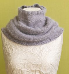 Misty Morning Cowl--I like the way this cowl fits snuggly at the neck like a turtleneck sweater.