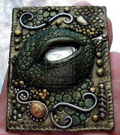 Dragon Eye 2 polymer clay by *MandarinMoon on deviantART