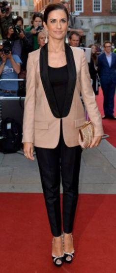 Livia Firth, GQ men of the yr awards, taupe tuxedo blazer (stella mccartney) Gq Awards, Image Fashion, Gq Men, Fashion Gallery, Tuxedo, Stella Mccartney, Taupe, Actors, Blazer