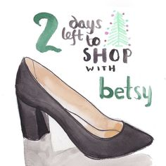 Still time for last minute gifties! Open 11-6pm today and 11-2pm tomorrow. Woohoo!!! Have I mentioned a gift card for shoes makes a girl smile??  #betsykingshoes #paseoartsdistrict #myhappyplace #tistheseason #givethegiftofshoes