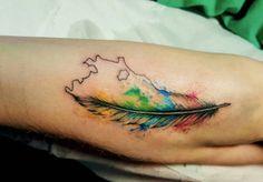 #lella #lellaink #art #passion #draw #drawing #tattoo #tattoed #tatuaggio #tatuaje #tattoodesign #ink #inked #inkpassion #milanotattoo #italiantattoo #watercolor #watercolortattoo #colorful #feather #feathertattoo #rio #riodejaneiro #watercolorfeather by llleellla