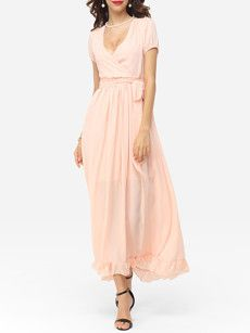 Fashionmia long pink dresses for women - Fashionmia.com
