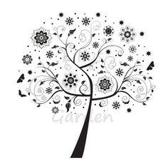 Digital Stamp Tree Digi Stamps 'Chic Tree 3' by lillysnightgarden, £1.25