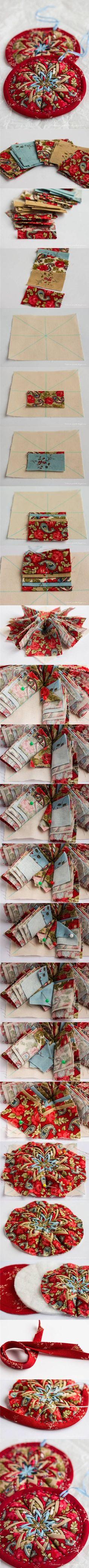 DIY Fabric Star Ornament DIY Fabric Star Ornament by diyforever