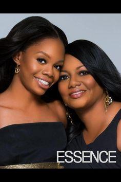 Gabby Douglas and mom:)