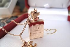 No. 5 by Chanel gold necklace