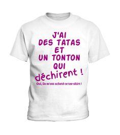 Tee-shirt enfant tata / tonton  #birthday #october #shirt #gift #ideas #photo #image #gift #costume #crazy #nephew #niece