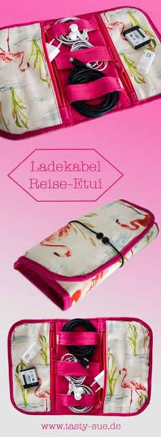Reisestecker-Etui mit Schnittmuster Diy Bag and Purse diy gift bag fabric Diy Bags Purses, Diy Purse, Sewing Projects For Beginners, Sewing Tutorials, Sewing Tips, Sewing Hacks, Party Bags, Free Sewing, Fabric Crafts