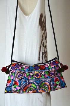 Women Bag Thai Bag Hmong Bag Hill Tribe Bag Sling Bag by Dollypun