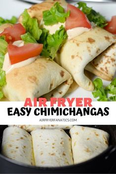 Make the best Air Fryer Chimichangas right at home for dinner paired with some c. - Air Fryer Dinner Recipes - Make the best Air Fryer Chimichangas right at home for dinner paired with some cilantro rice, making - Air Fryer Recipes Vegetarian, Air Fryer Oven Recipes, Air Frier Recipes, Air Fryer Dinner Recipes, Cooking Recipes, Cooking Tips, Easy Recipes, Skillet Recipes, Healthy Recipes