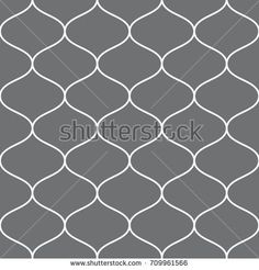 Vector seamless pattern. Modern stylish texture with wavy stripes. Geometric abstract background.