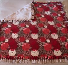 How To Make a Cozy No-Sew Fleece Blanket--The amount of fleece you will need per blanket will depend on how big you want it to be. For an infant, one yard of fleece will make a nice sized blanket. For an older child, one and a half to one and three quarter yards will be plenty. For an adult, 2 yards is a good length.
