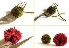 cómo hacer pompones de lana