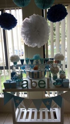 Lolly buffet i put together for my son's baptism.