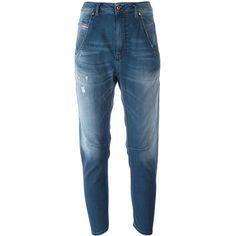 Diesel 'Fayzane' jeans (6 120 UAH) ❤ liked on Polyvore featuring jeans, blue, blue jeans and diesel jeans