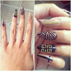 Except square I don't like pointy nails