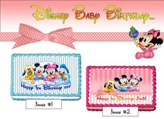 Disney Baby cake cupcake & cookie toppers by TheYummyToppers