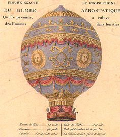 The 1783 Montgolfier hot-air balloon.  Photo courtesy of Wright Brothers